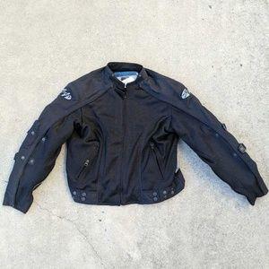 Joe Rocket XL Motorcycle Biker Racing Jacket Black